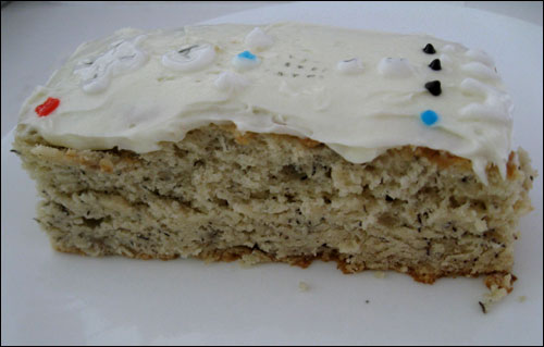 Wii Remote Banana Bread Bars