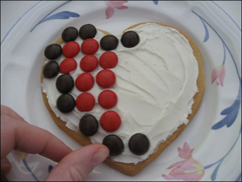 8-Bit Heart Sugar Cookies