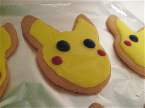 Pokeman Pikachu Sugar Cookies